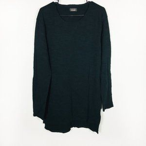 Zara Black Textured Crew Neck Pullover Tunic Tee M